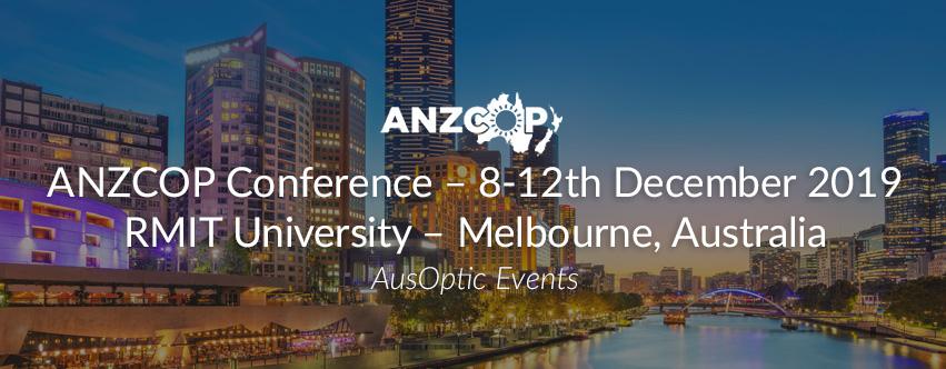 ANZCOP Conference – 8-12th December 2019 RMIT University – Melbourne, Australia