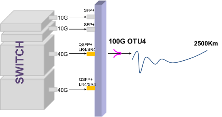 PacketLight 40G Extension using the 100G Solution