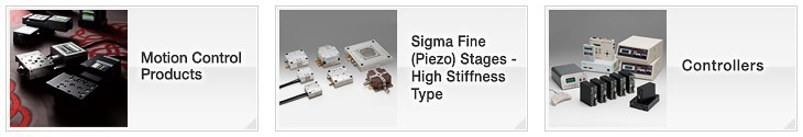 OptoSigma Motion Control Application Systems: Motorised Stages, Sigma Fine (Piezo) Stages - High Stiffness Type, Controllers, Software