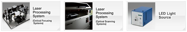 OptoSigma Laser Processing Systems: Laser Processing System (Optical Focusing Systems, Optical Scanning Systems), LED Light Source